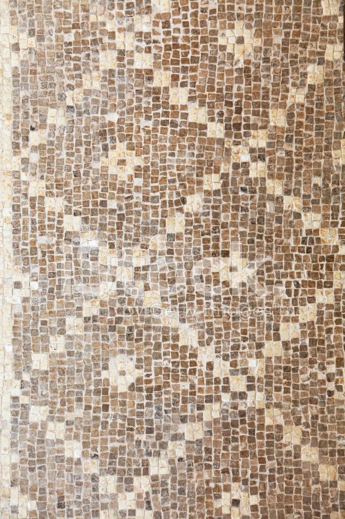 Floor Mosaic In Ancient Roman Paphos Ruins Cyprus Stock Photos