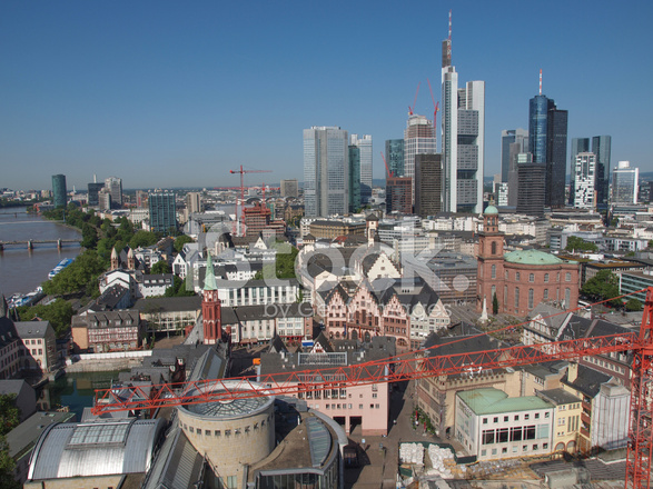 aerial view of frankfurt stock photos. Black Bedroom Furniture Sets. Home Design Ideas