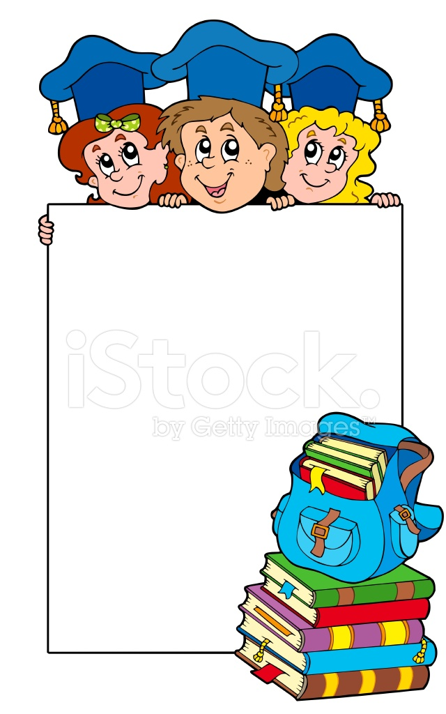 Blank Frame With Graduating Kids Stock Vector - FreeImages.com