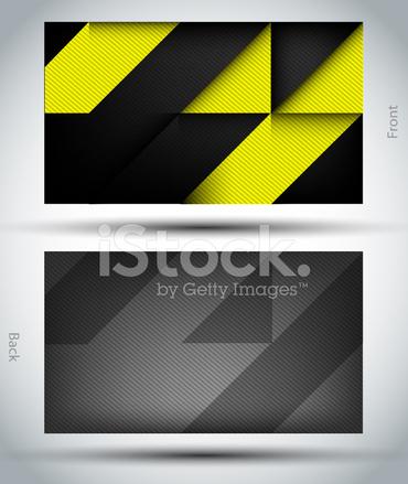 Hintergrund Oder Vorlage Für Moderne Visitenkarte Stock