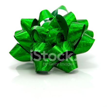 green gift bow stock photos freeimages