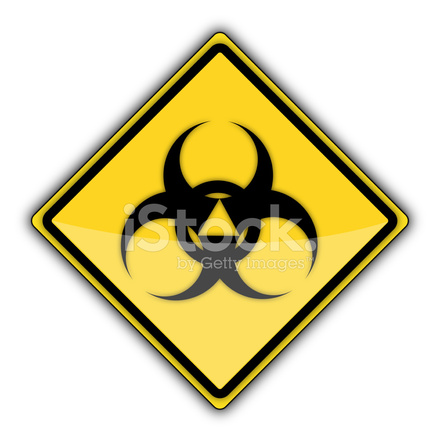 Yellow Road Sign Radioactive Stock Photos Freeimages