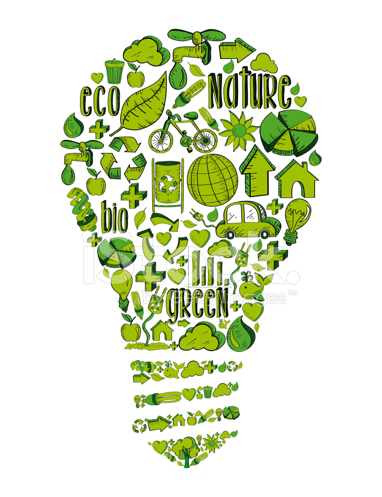 Go Green Lamp Stock Vector