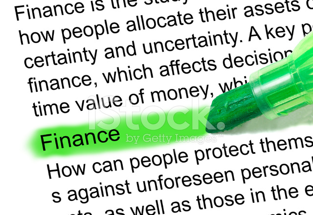Finance Definition Marked In Dictionary