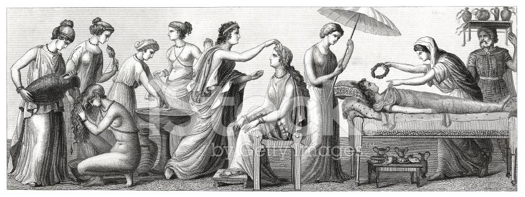 Un viaggio attraverso la Storia 25279504-life-and-people-in-ancient-greece-antique-wood-engraving