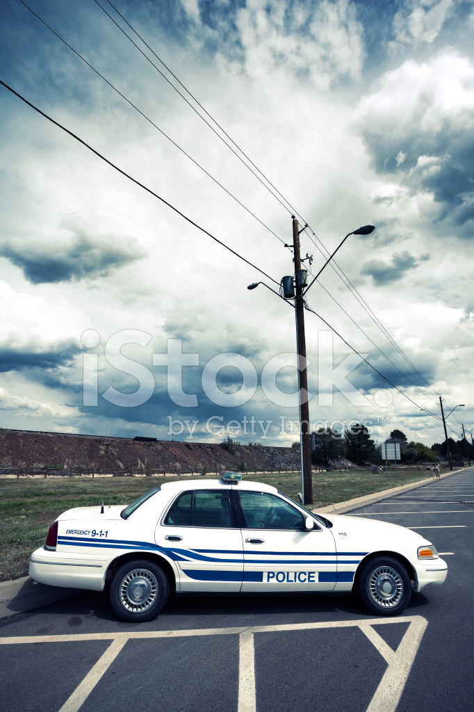 Vertical View of Cop Car stock photos - FreeImages.com
