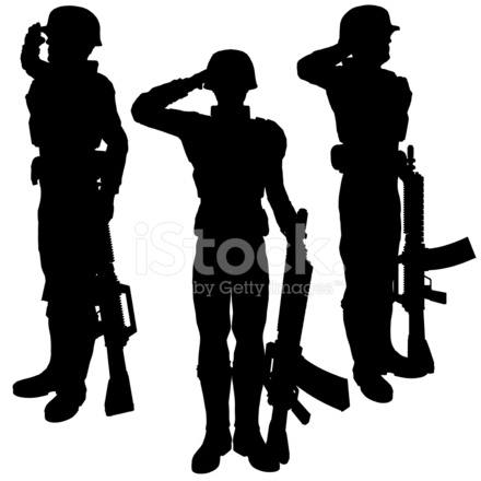 premium stock photo of silhouette soldiersalute