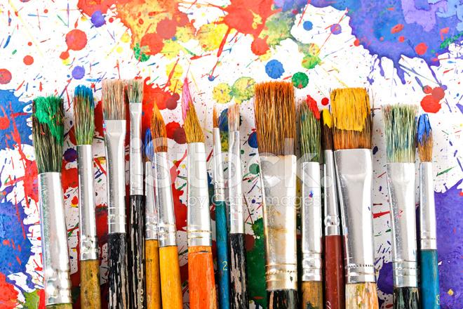 Pinceles y pintura oleosa del arte fotograf as de stock for Arts and craft paint