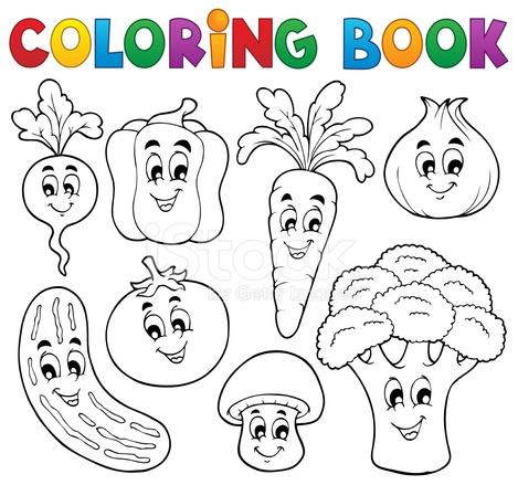 Boyama Kitabı Meyve Tema 1 Stock Vector Freeimagescom