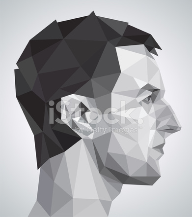 Premium Stock Photo Of Profile Young Man IN Origami Style