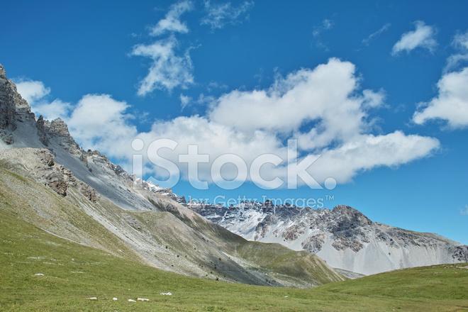 Alplandskap I Queyras Frankrike Alperna Stockfoton Freeimages Com