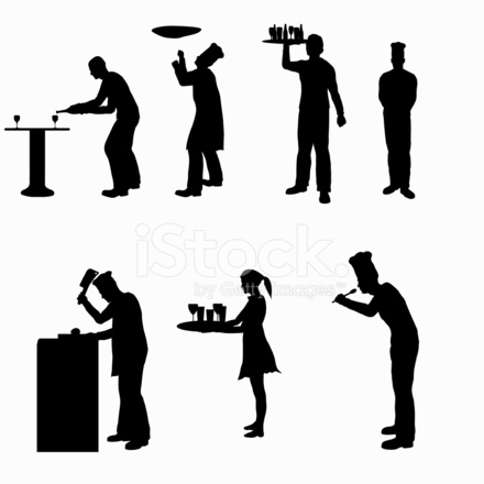 Food Service Silhouette Collection Vector Jpg 1160356