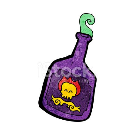 Botella DE Veneno DE Dibujos Animados fotografas de stock