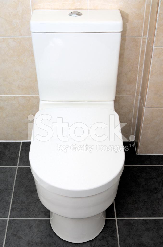 Moderne Stand Toilette Spülen IN Gefliestes Bad/wc ...