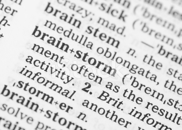 macro image dictionary definition of brainstorm stock photos