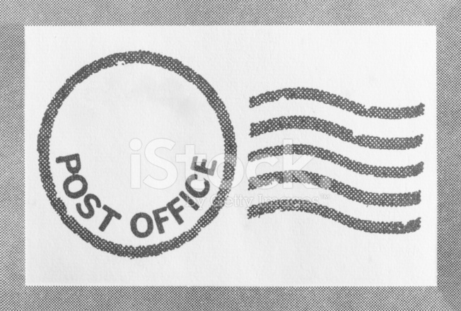 Post Office Stamp Stock Photos