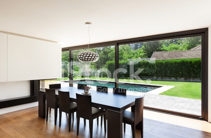 Moderne Villa, Interieur, Eetkamer Stockfoto\'s - FreeImages.com