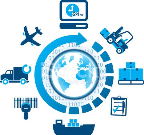 Global Logistics Shipping Icons Stock Photos Freeimages Com