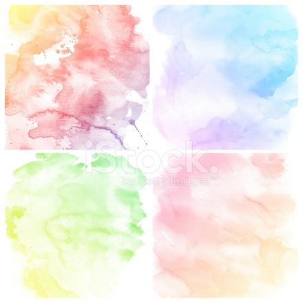 set of colorful water color painting background stock vector
