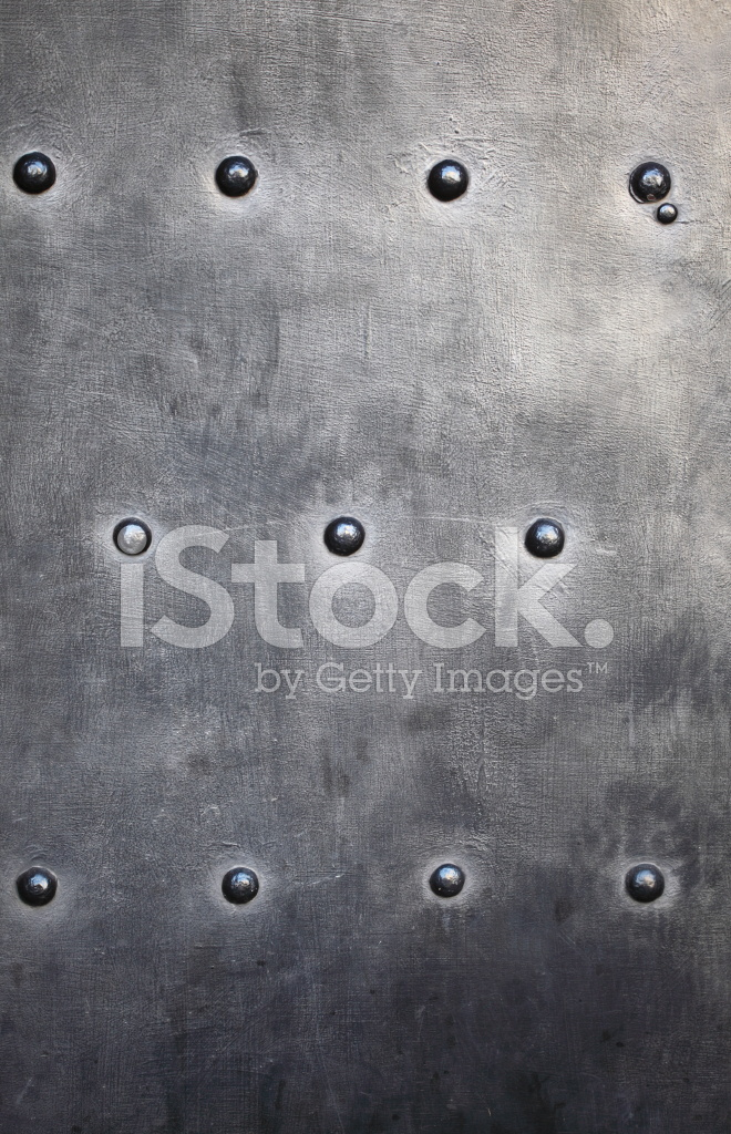 Black Metal Plate OR Armour Texture With Rivets Stock ...