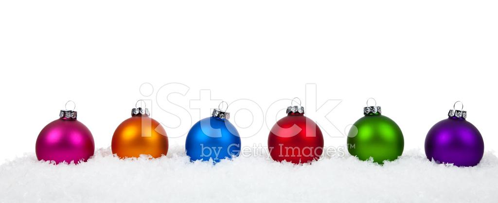Surtidos Colores Adornos/adornos DE Navidad En Blanco Fotografías de ...