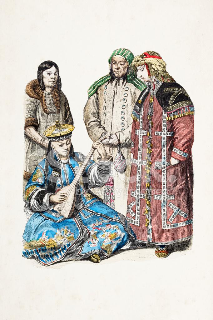 19 Different Types Of Pants: Ryska Kosacker Med Olika Dräkter Från 1800 Talet Stock