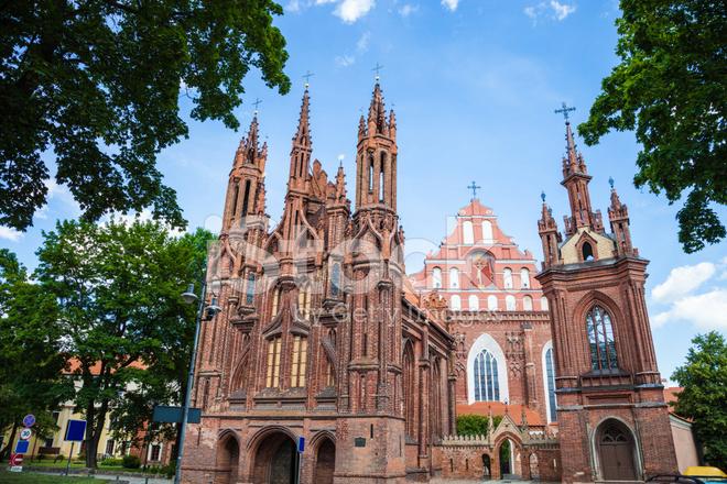 Anne S Gothic Church In Vilnius Stock Photos