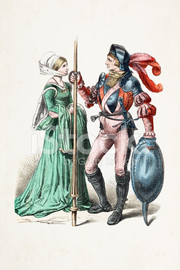 16 世紀からの伝統的な服でドイツの貴族 画像をストックする ...