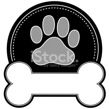 pata e osso de cão stock vector freeimages com