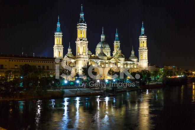 Catedral Basilica DE Nuestra Señora Del Pilar, Zaragoza Spain stock photos - ...