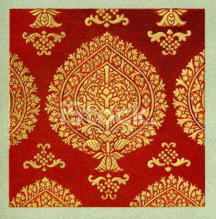 Decorazione Stile Farsi Persia Iran Arabesque Ornamento Litografia 19esimo Antiques
