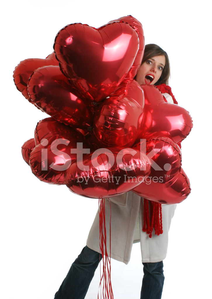 woman holding balloon bouquet stock photos   freeimages