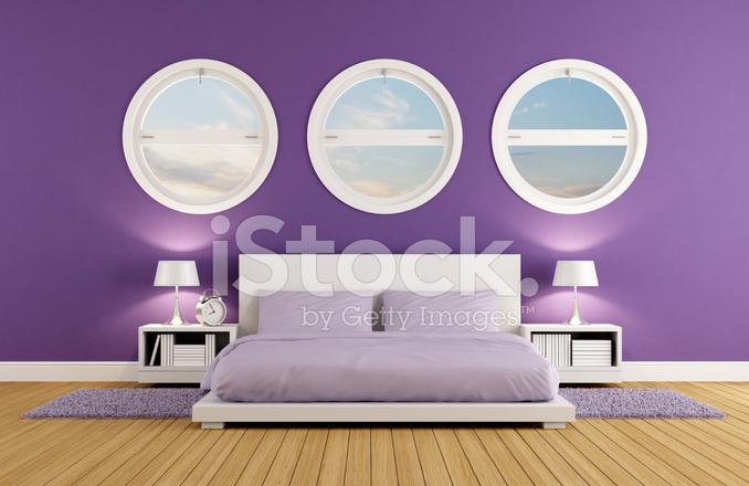 Paarse Accessoires Slaapkamer : Paarse slaapkamer stockfoto s freeimages
