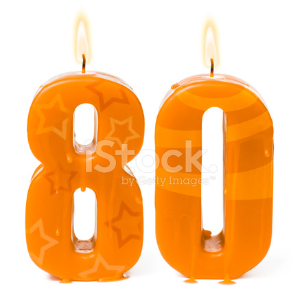 Eightieth 80th Birthday Or Anniversary Candles