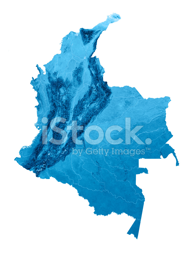 Topographic Map Of Colombia.Colombia Topographic Map Isolated Stock Photos Freeimages Com