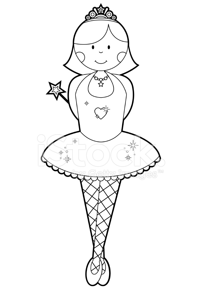 Colour IN Ballerina Girl Stock Vector - FreeImages.com