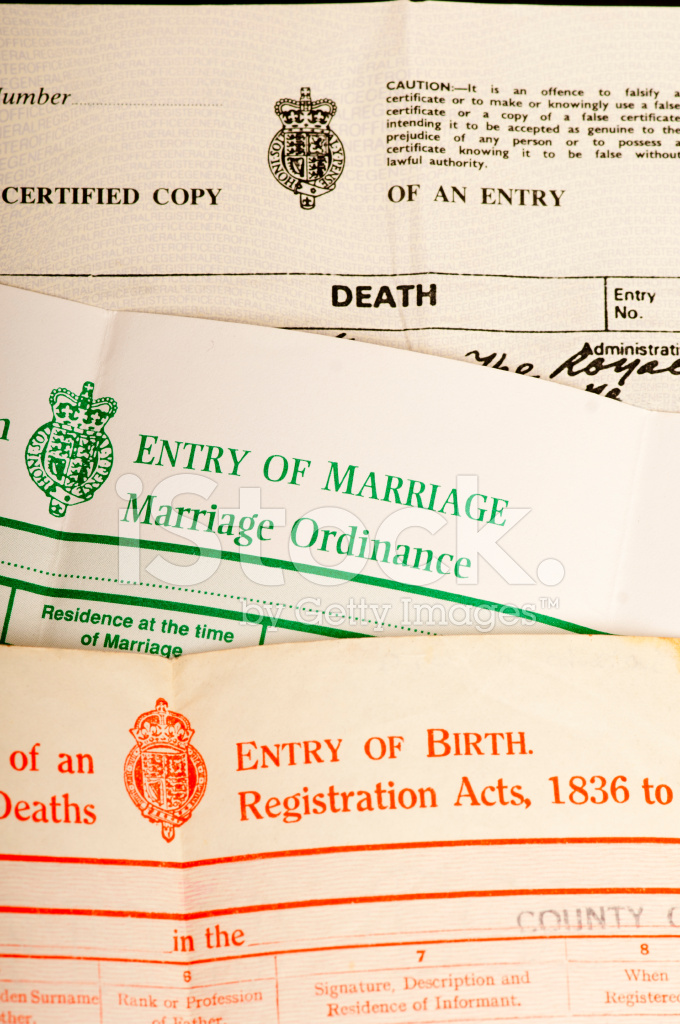 Birth Marriage And Death Certificates Stock Photos Freeimages