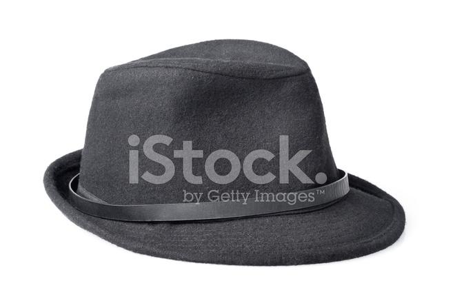 8ab8174b48763 Black Male Felt Hat Isolated on White Background Stock Photos ...