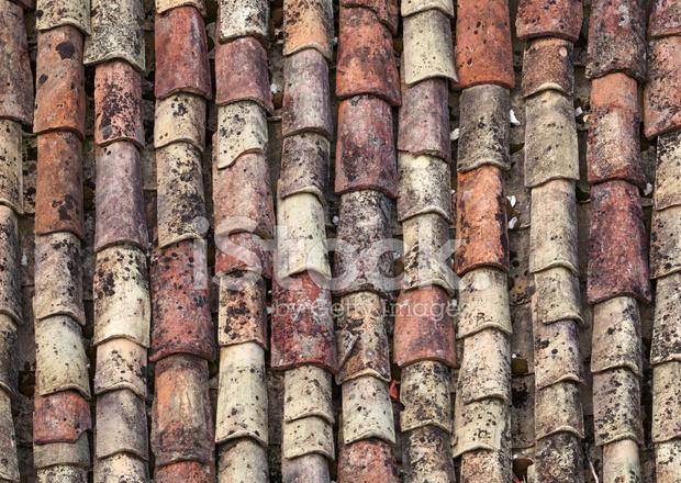 Oude rode tegel dak achtergrondstructuur stockfoto s freeimages