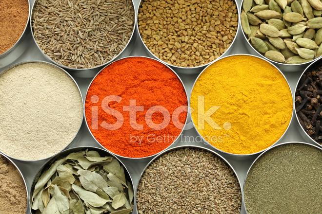 Indiska Kryddor Samling Stockfoton Freeimages Com