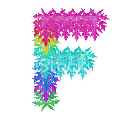 Colourful leaf f alphabet stock photos freeimages com