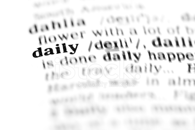 daily  the dictionary project  stock photos