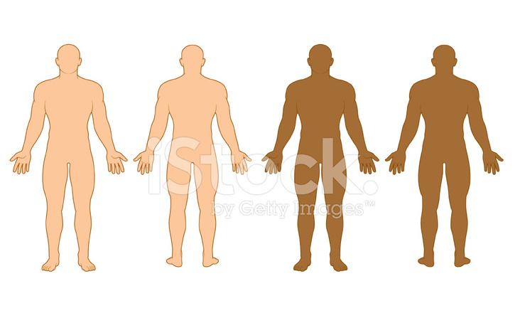 Male Body Outline Stock Vector