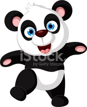 Dibujos Animados Graciosos Panda Bailando Stock Vector Freeimagescom