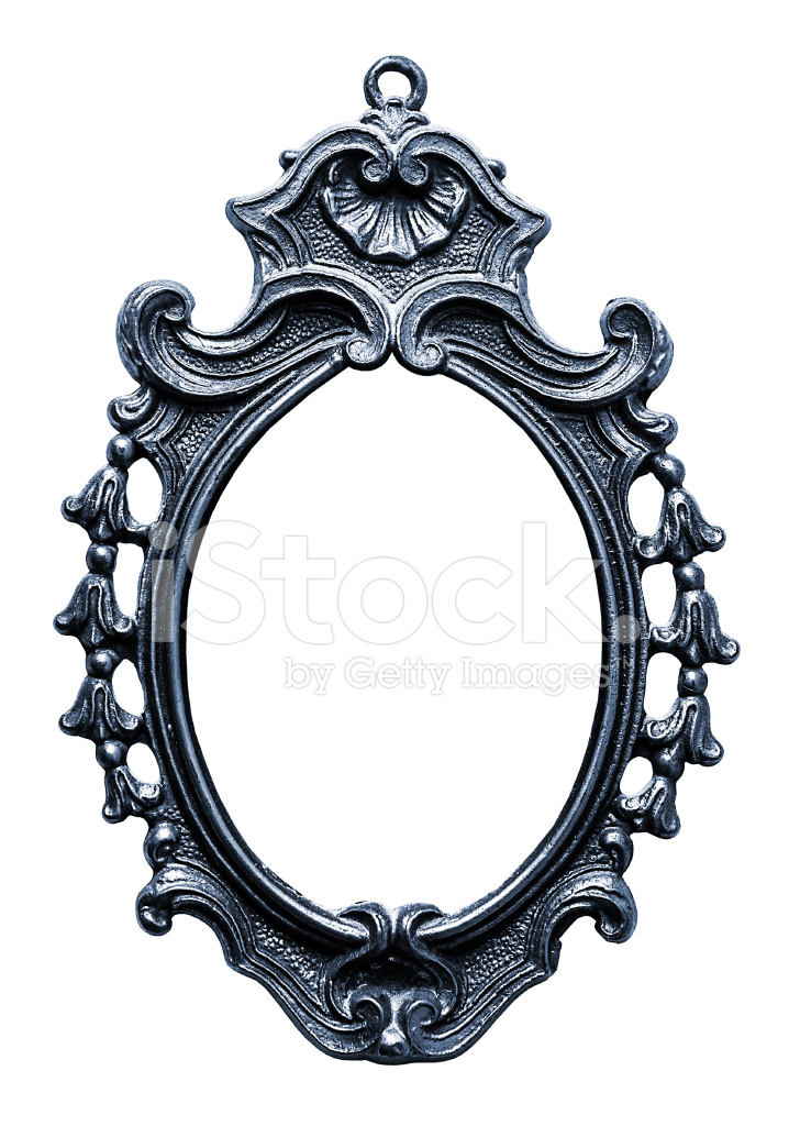 Oude Ovaal Metalen Frame, Geïsoleerd Op Wit Stockfoto\'s - FreeImages.com