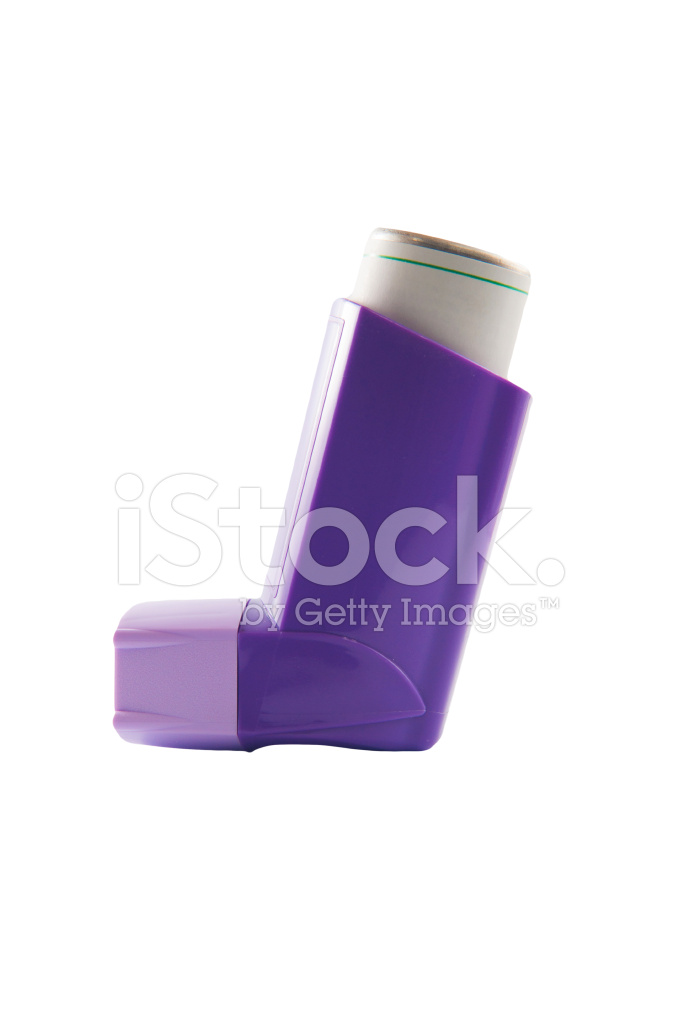 Purple asthma inhaler stock photos freeimages