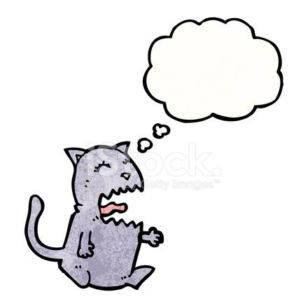 Desenhos Animados Do Gato Bravo Stock Vector Freeimages Com