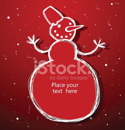Christmas Snowman Banner Stock Vector Freeimages