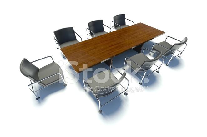 Tavolo riunioni e sedie sala riunioni su sfondo bianco fotografie