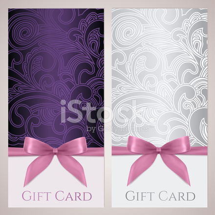 Gift Certificate, Card, Voucher, Coupon Template With ...